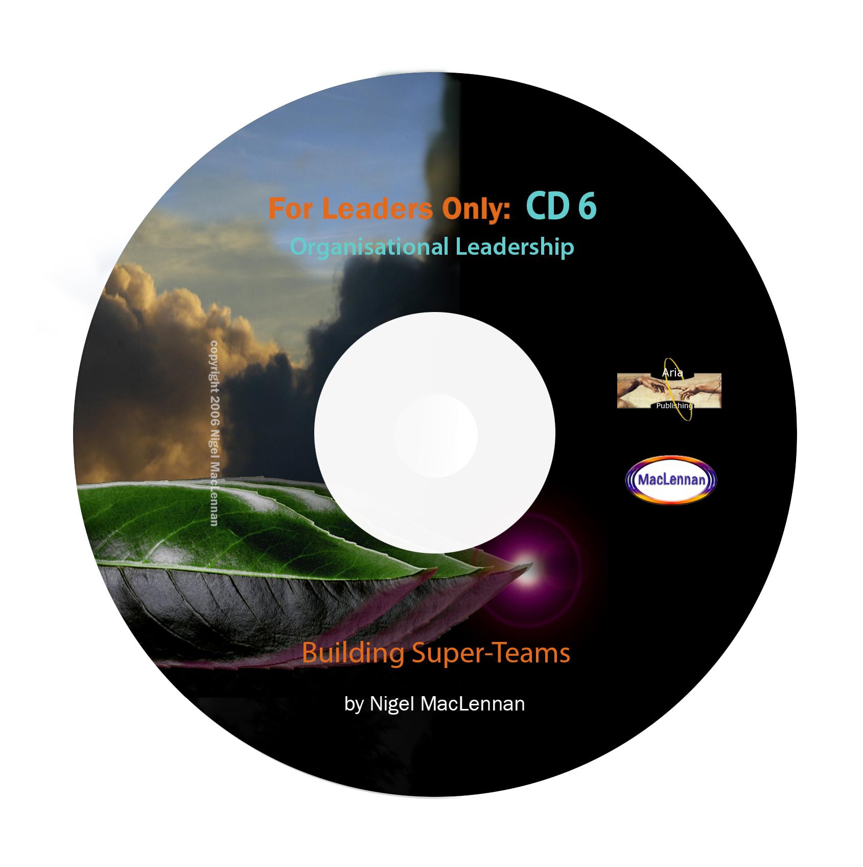For Leaders Only - Building Superteams CD